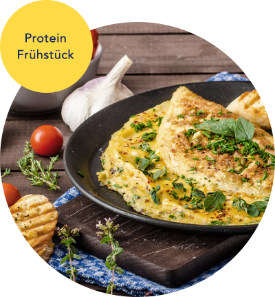 Ernährungsplan Beispiel-Rezept Frühstück Omelett